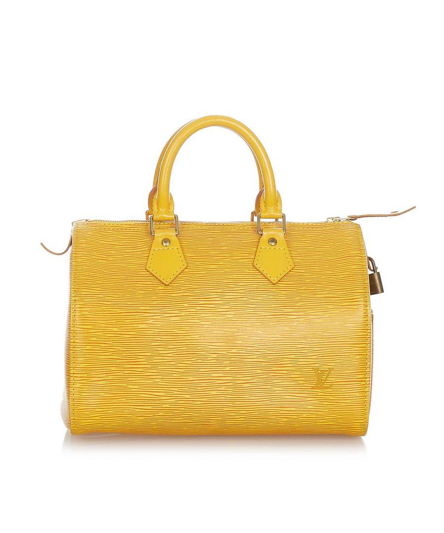 Image for Vintage Louis Vuitton Epi Speedy 25 Yellow