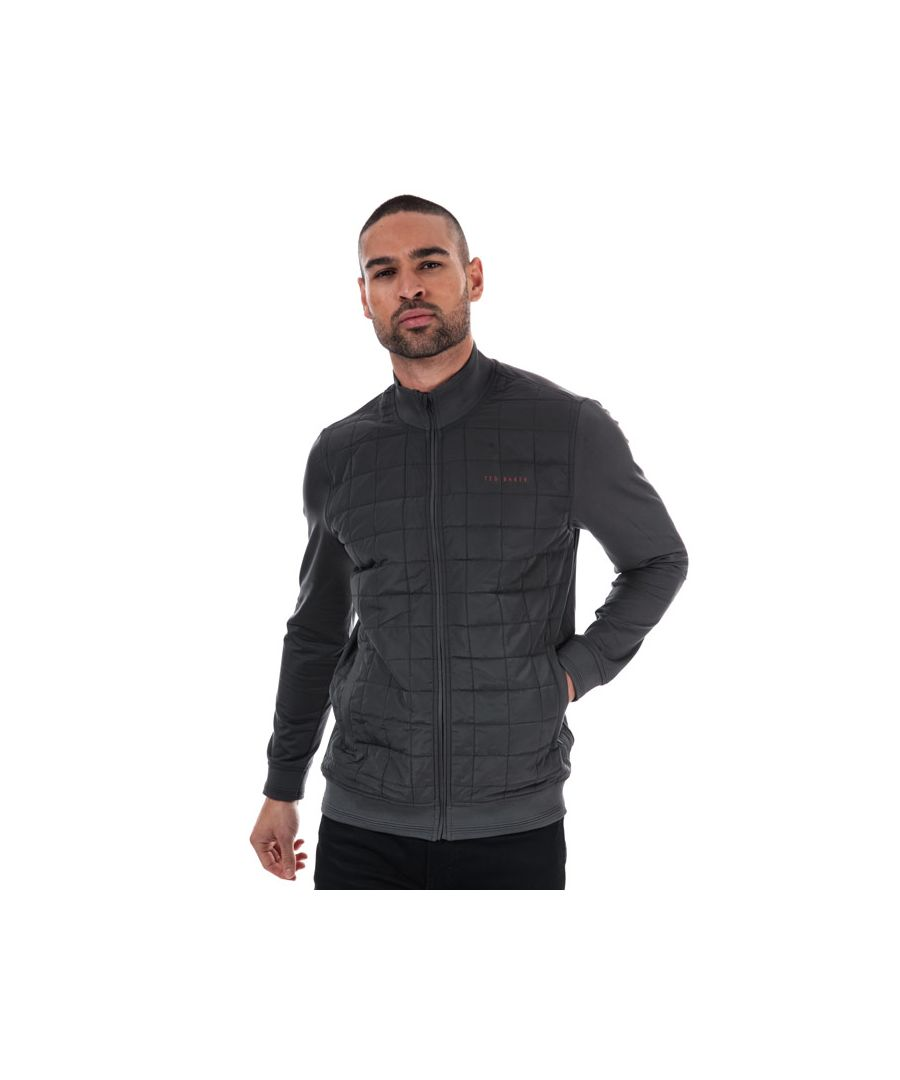 Image for Men's Ted Baker Trolley Square Quilted Layering Jacket in Grey