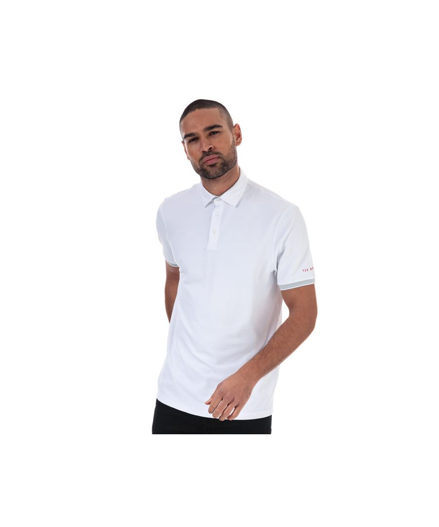 Image for Men's Ted Baker Clubtwo Textured Polo Shirt in White
