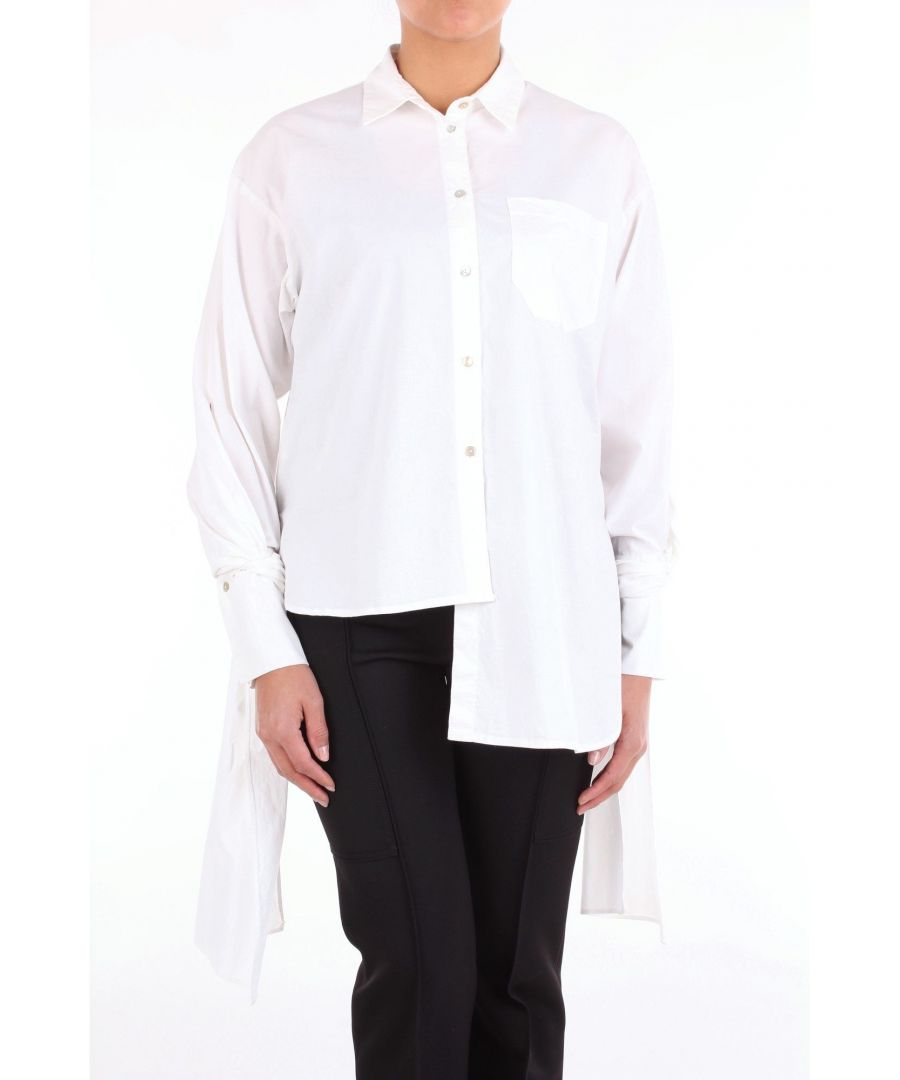Image for MERCI WOMEN'S MC146TBIANCO WHITE COTTON SHIRT
