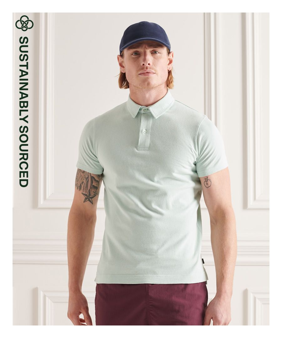 Image for Superdry Organic Cotton Studios Jersey Polo Shirt