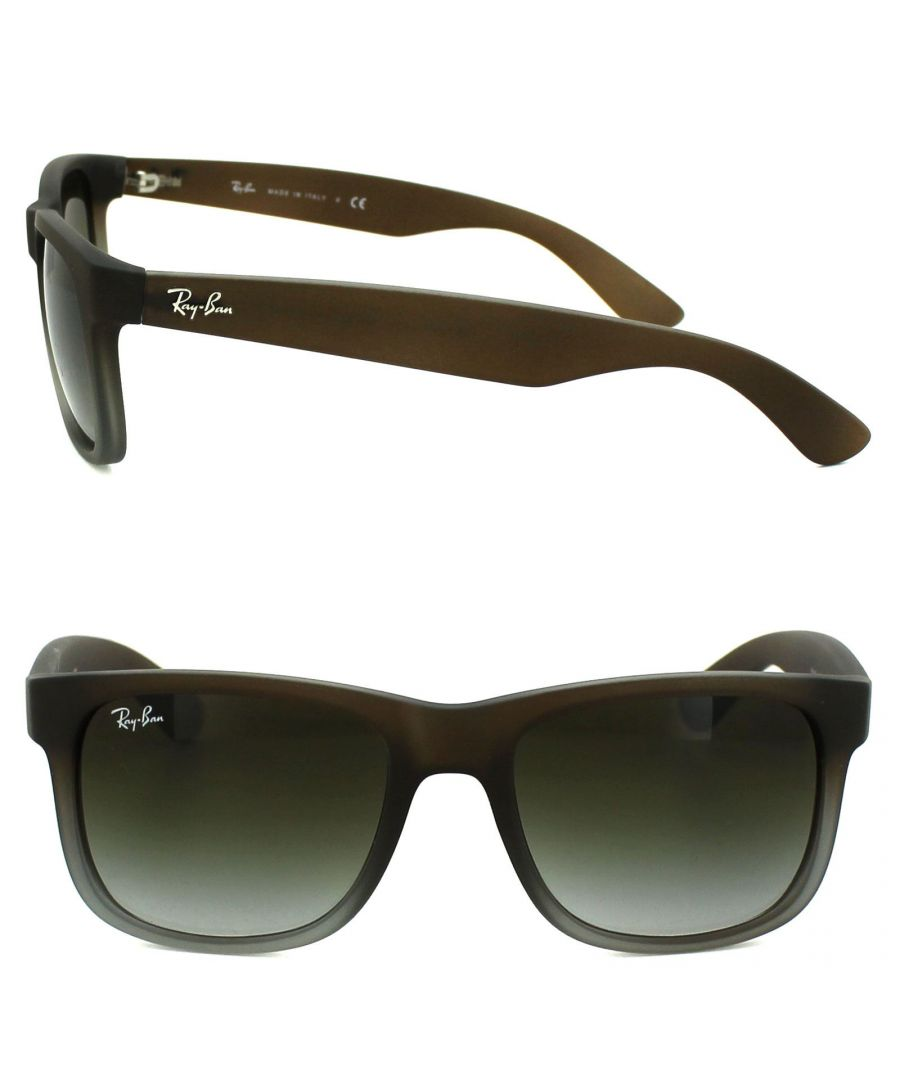 Image for Ray-Ban Sunglasses Justin 4165 854/7Z Rubber Brown Fade Green Gradient 51mm