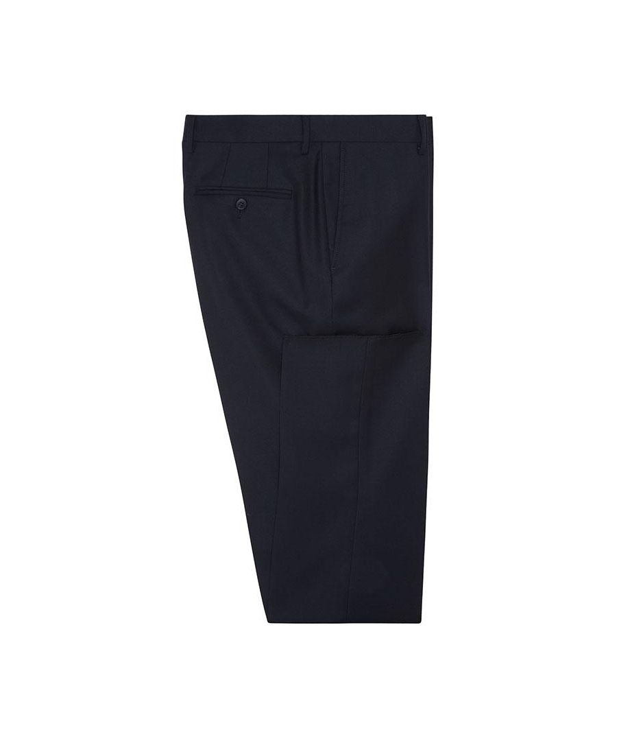 Image for Men's Hackett, Plain Wool Twill Trousers in Midnight