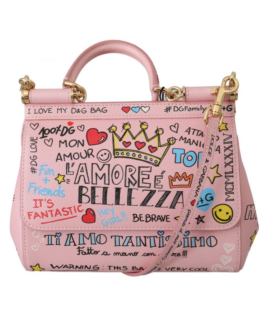 Image for Dolce & Gabbana Pink Amore Shoulder Purse Borse Satchel Sicily Bag