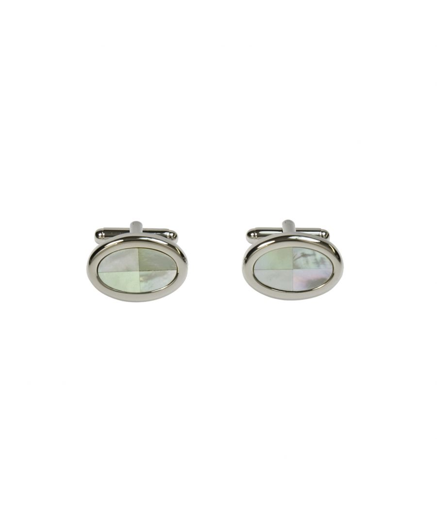 Image for MOP Split Oval Cufflinks