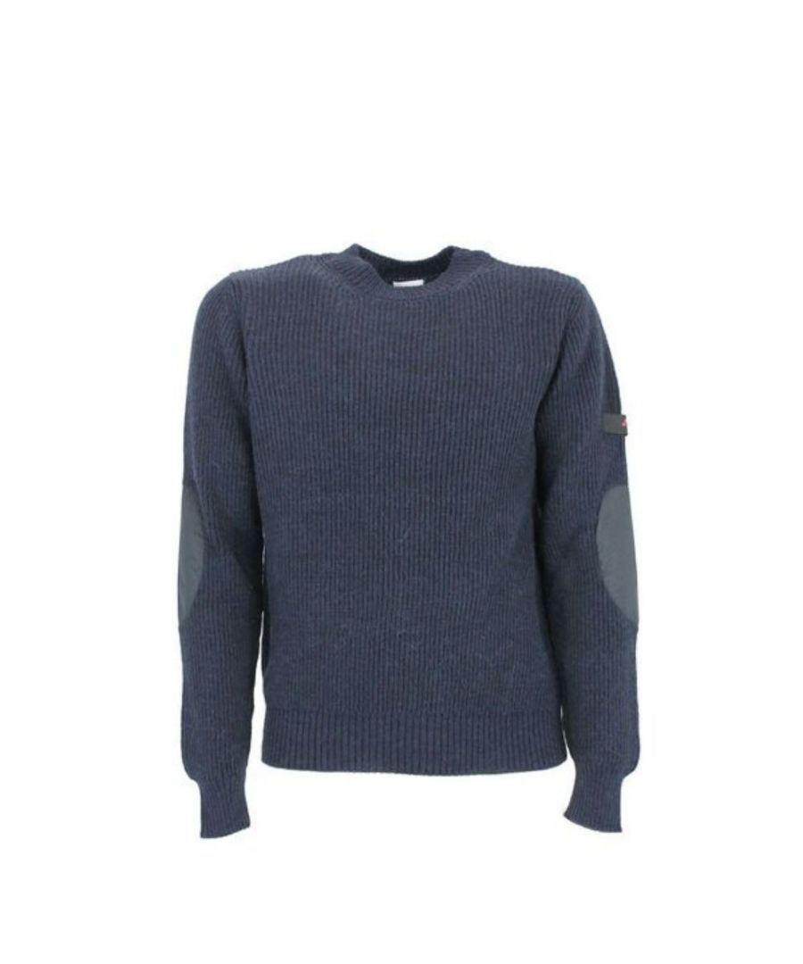 Image for PEUTEREY MEN'S PEU329699011931215 BLUE WOOL SWEATER