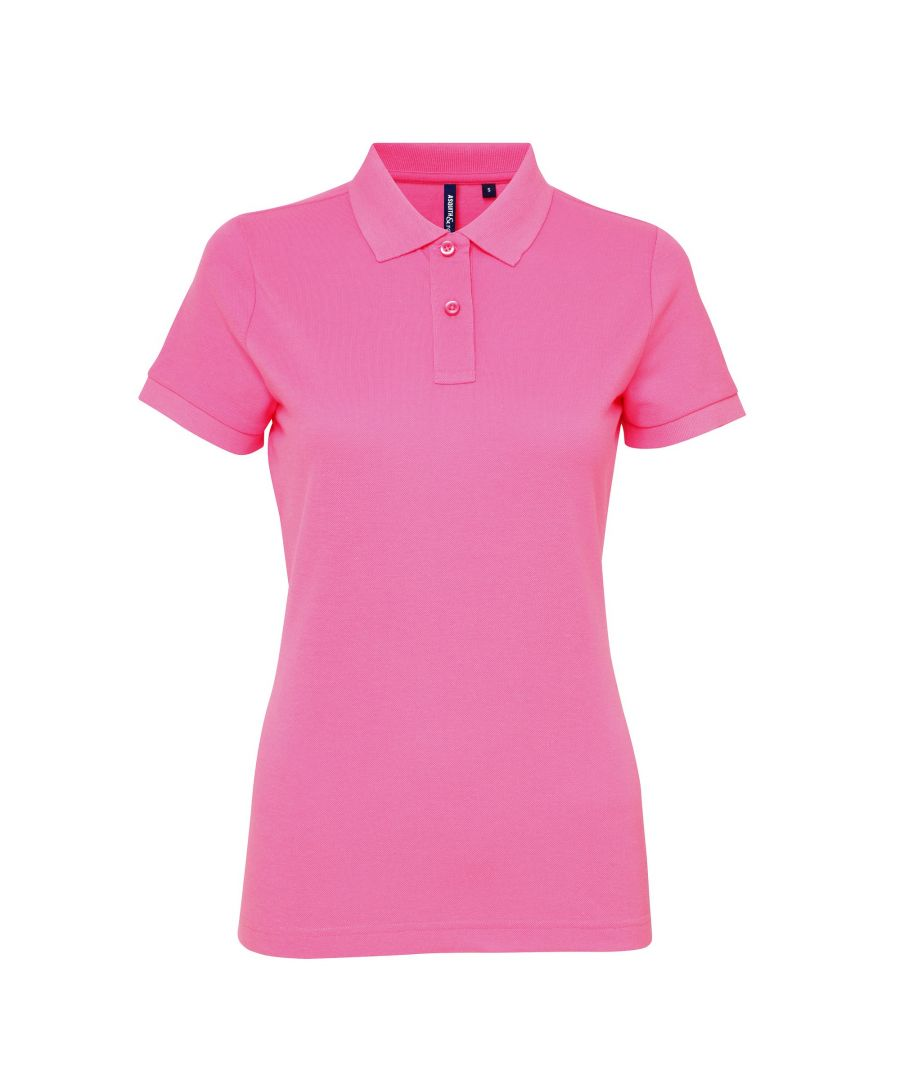 Image for Asquith & Fox Womens/Ladies Short Sleeve Performance Blend Polo Shirt (Neon Pink)