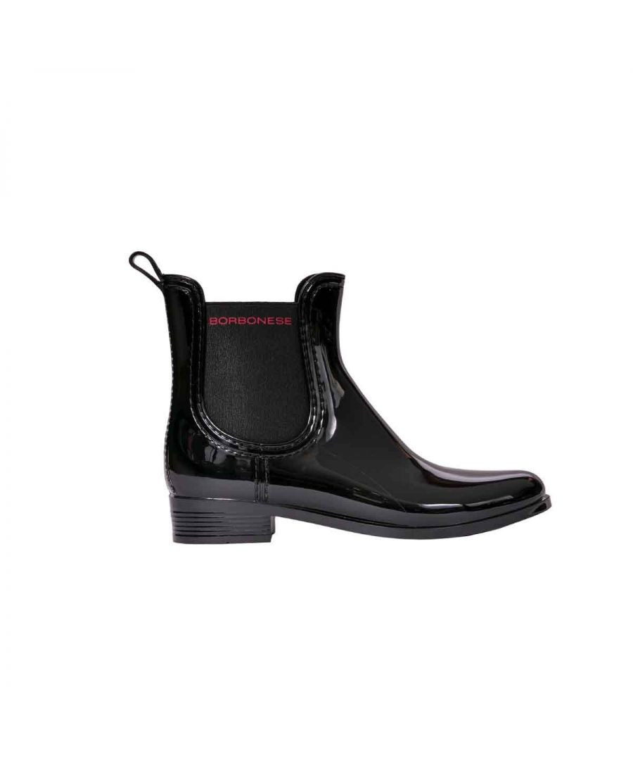 Image for BORBONESE WOMEN'S 6DR934T70100 BLACK LEATHER ANKLE BOOTS