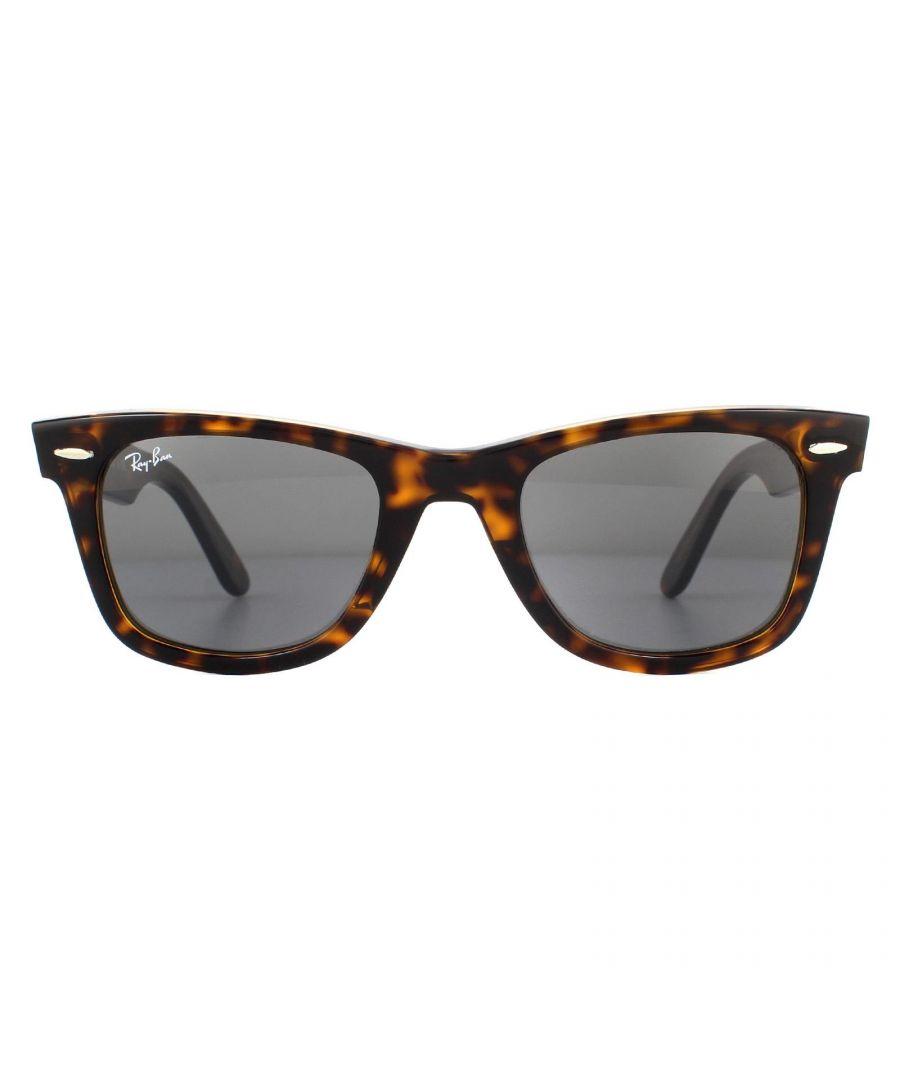 Image for Ray-Ban Sunglasses Wayfarer 2140 1292B1 Tortoise Dark Grey Classic