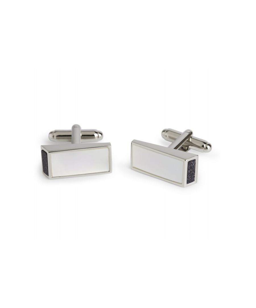Image for MOP/Blue Goldstone Wedge Cufflinks