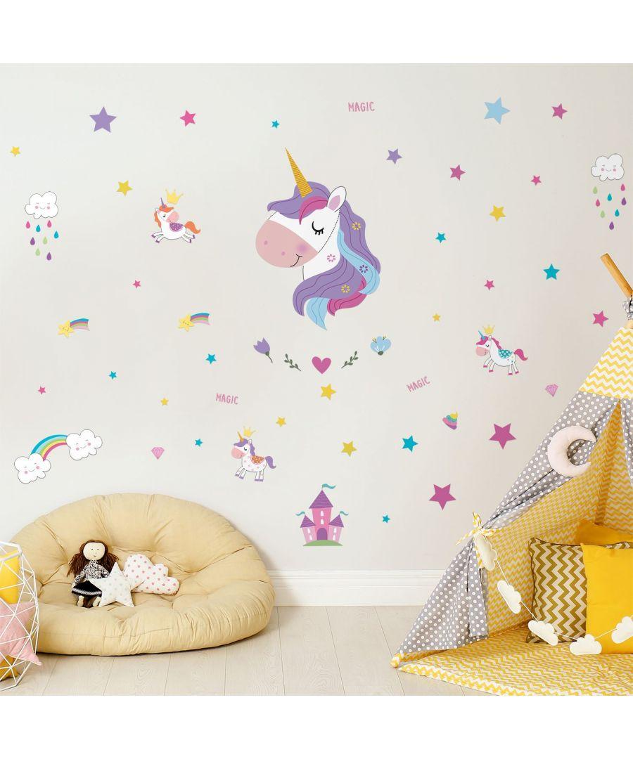Image for Wall Art - Magical Unicorns World