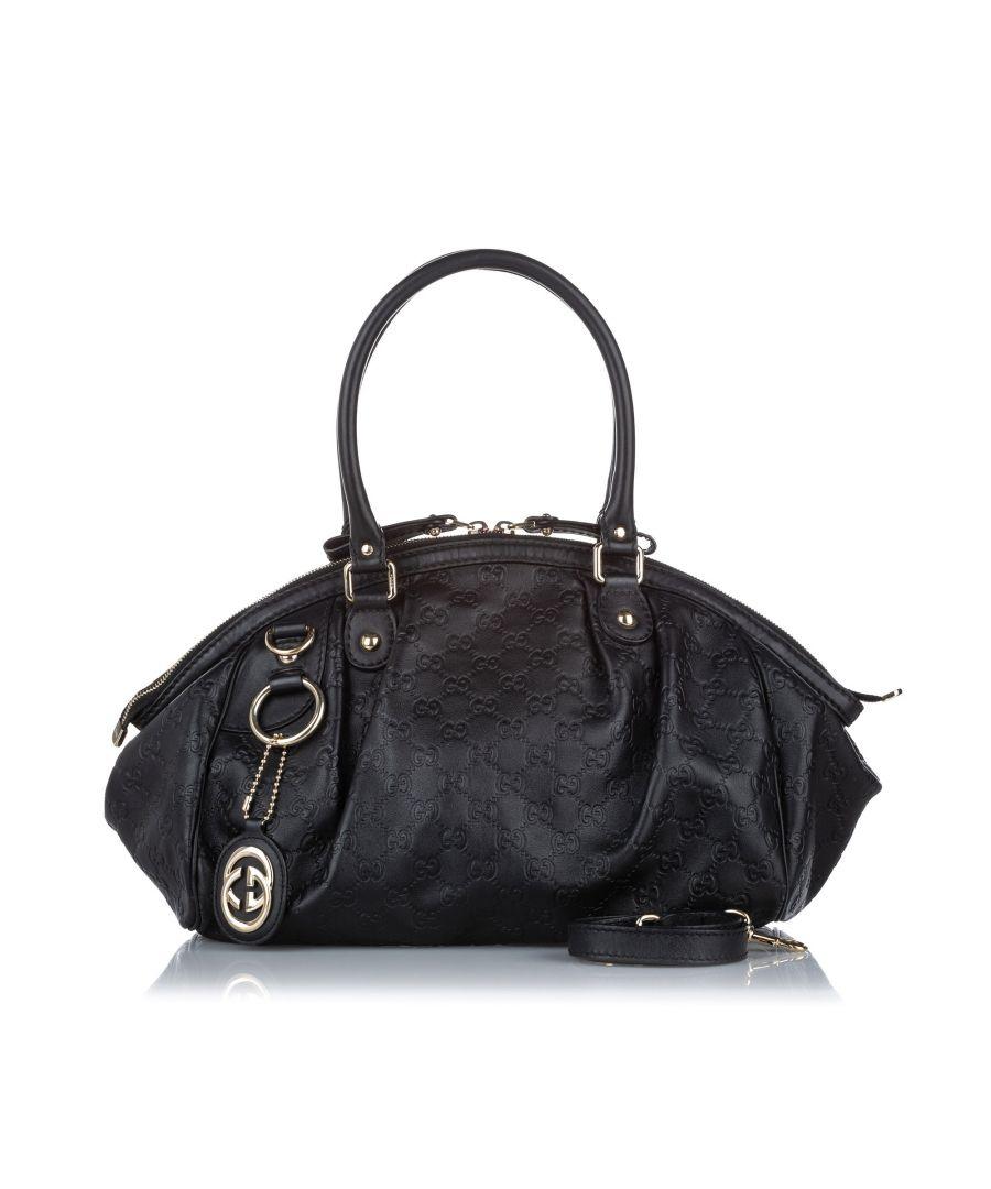Image for Vintage Gucci Guccissima Sukey Satchel Black