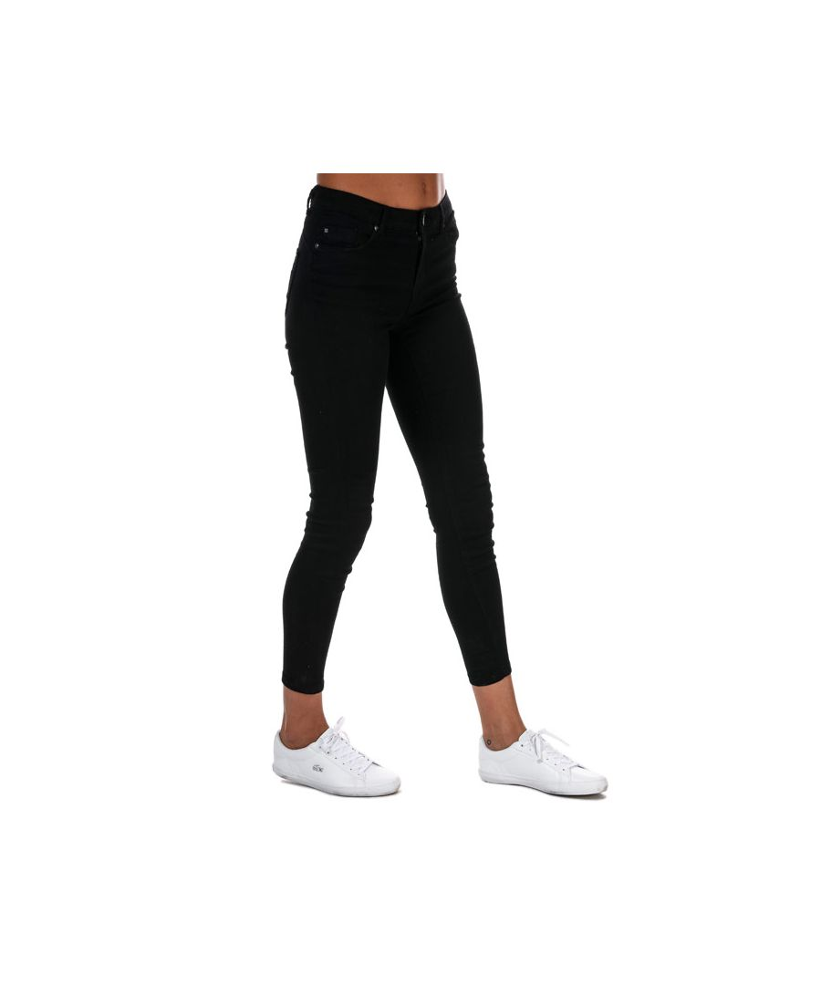 Image for Women's Only Iris Ankle Push Up Skinny Jeans in Black