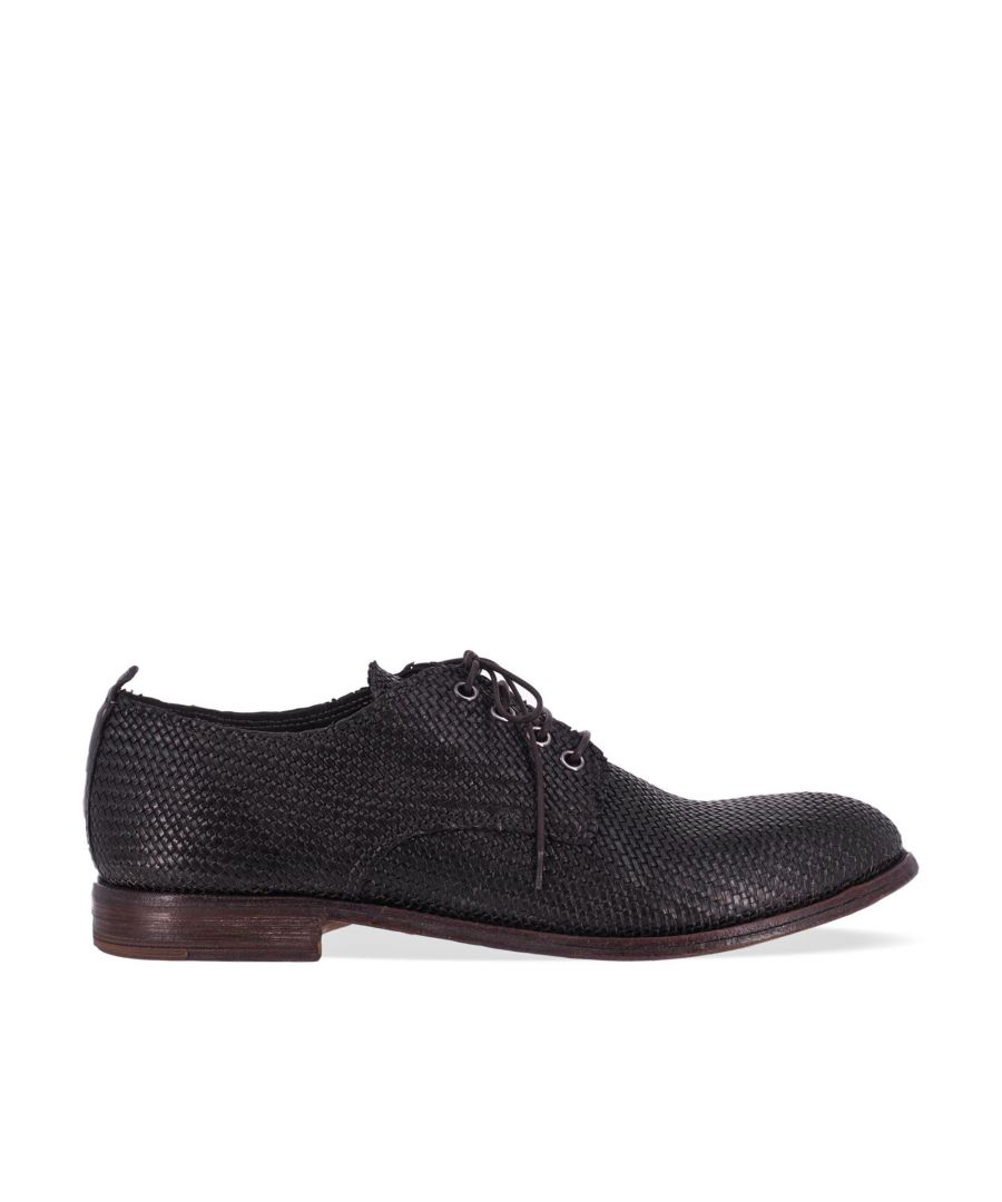 Image for MOMA MEN'S 210903BLACK BLACK LEATHER LACE-UP SHOES