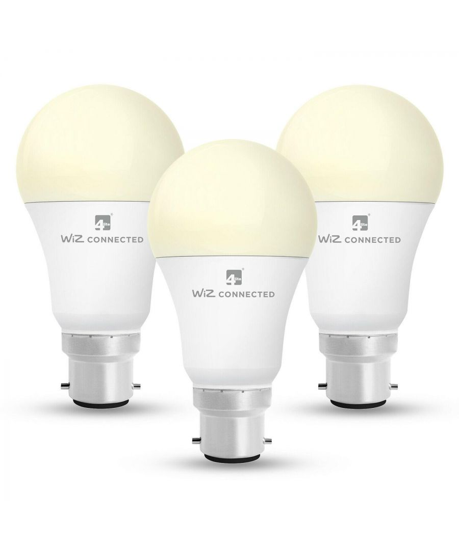 Image for WiZ LED Smart Bulb Wifi A60 B22 x 3 Pack