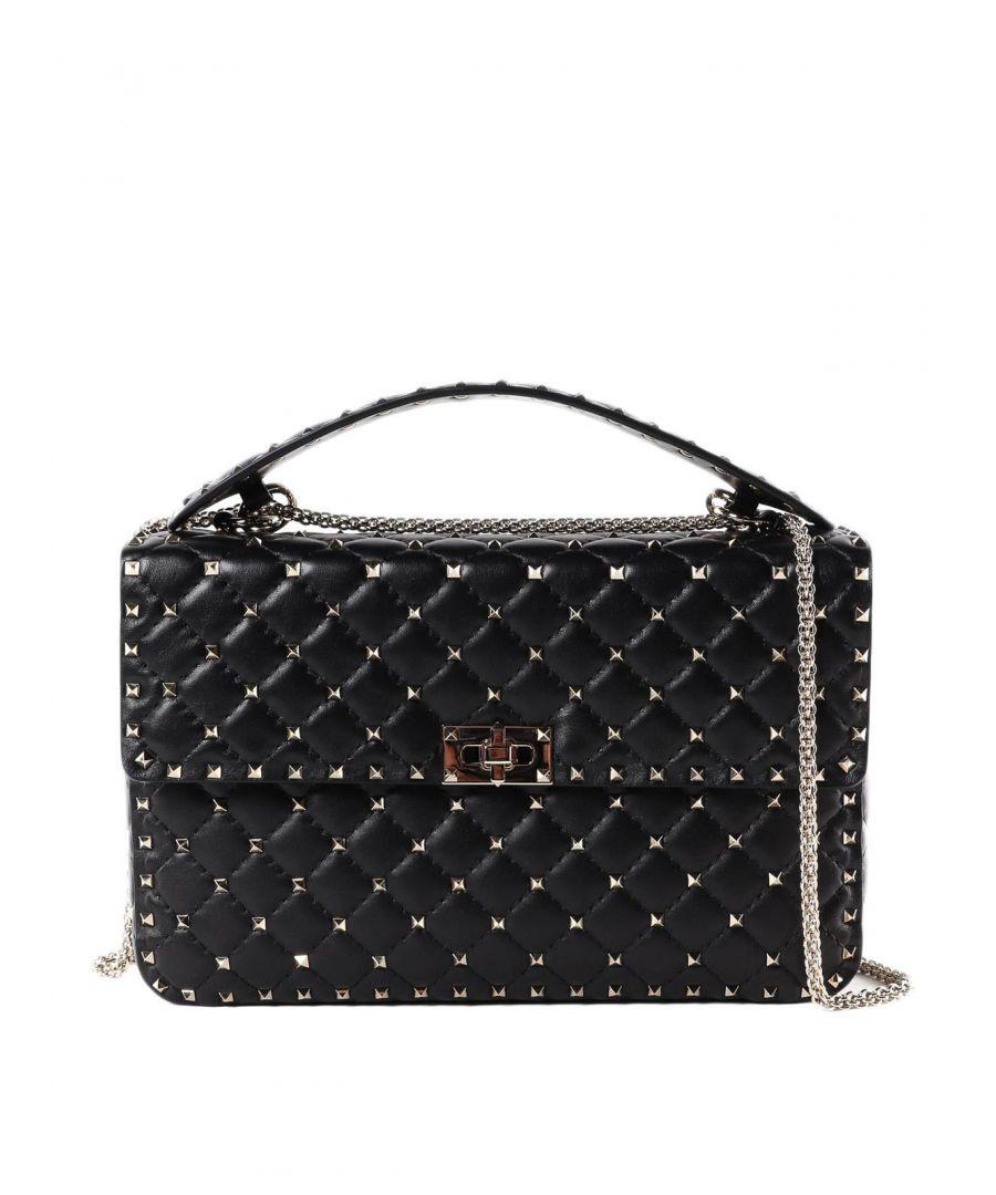 Image for VALENTINO WOMEN'S RW2B0121NAP0NO BLACK LEATHER SHOULDER BAG