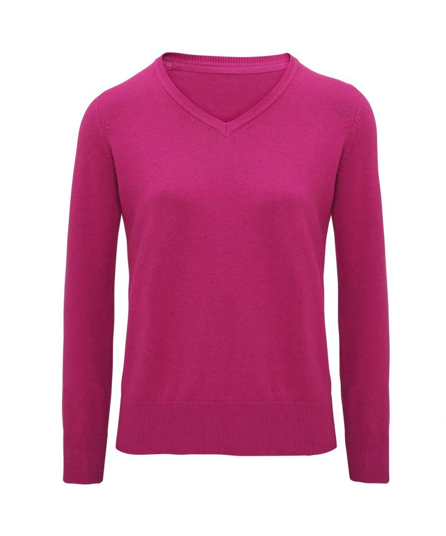 Image for Asquith And Fox Womens/Ladies V-Neck Sweater (Orchid Heather)