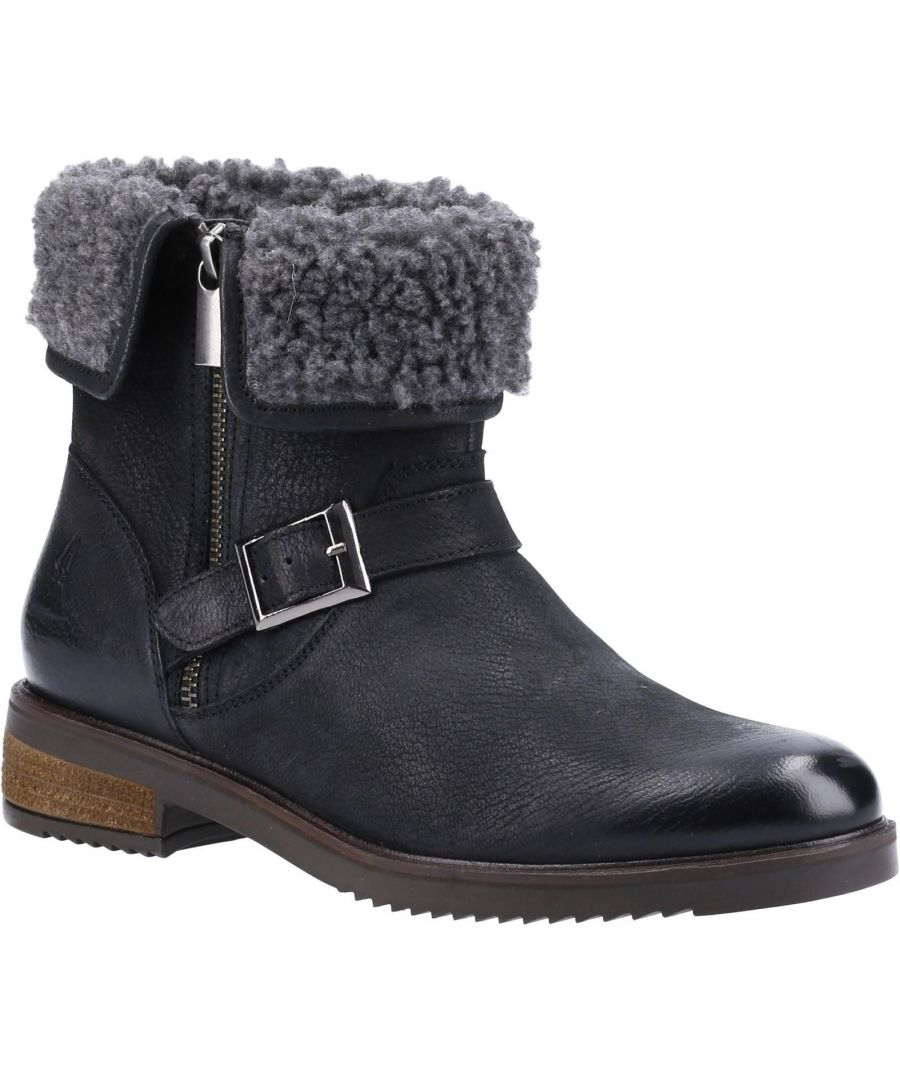 Image for Hush Puppies Womens/Ladies Tyler Leather Ankle Boots (Black)