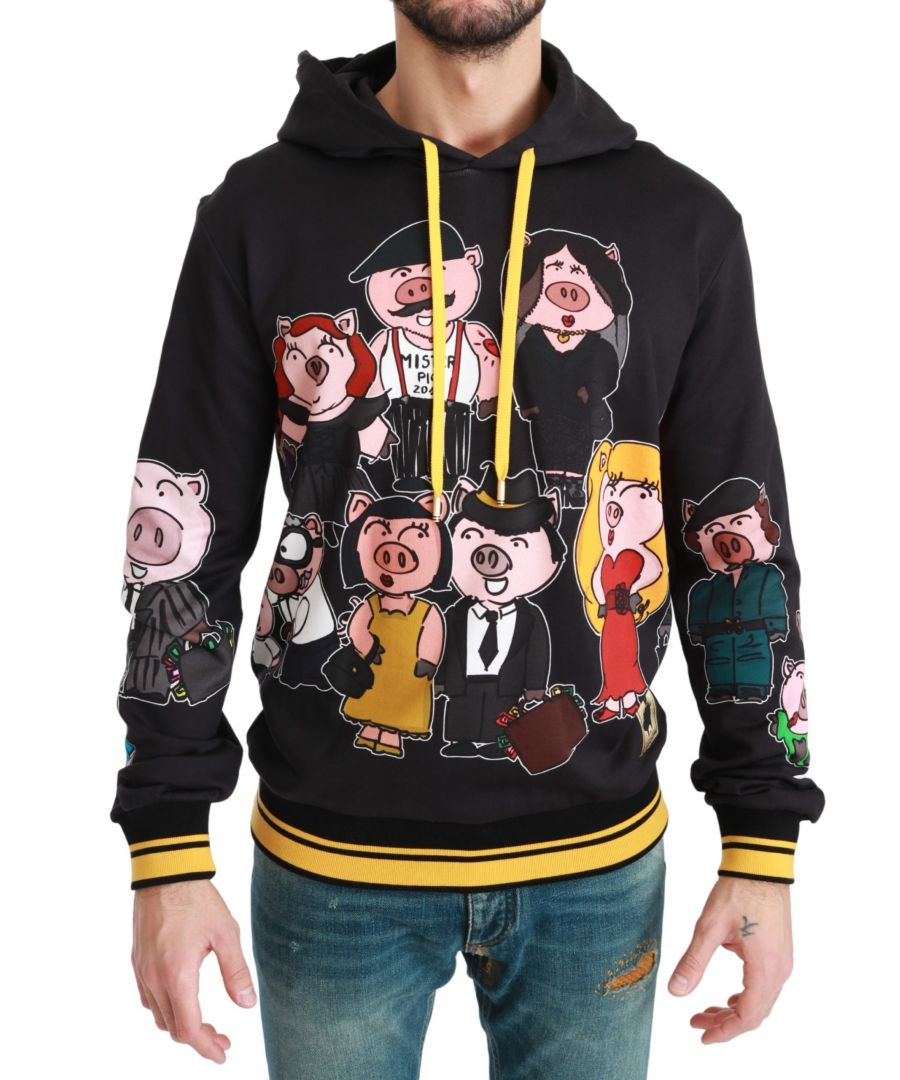 Image for Dolce & Gabbana Black Pig of the Year Hooded Sweater
