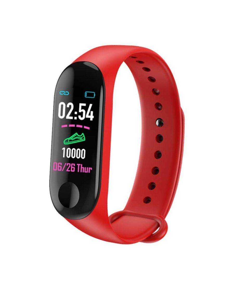 Image for LKS M3 Smart Bracelet with IPS Color Screen, Red