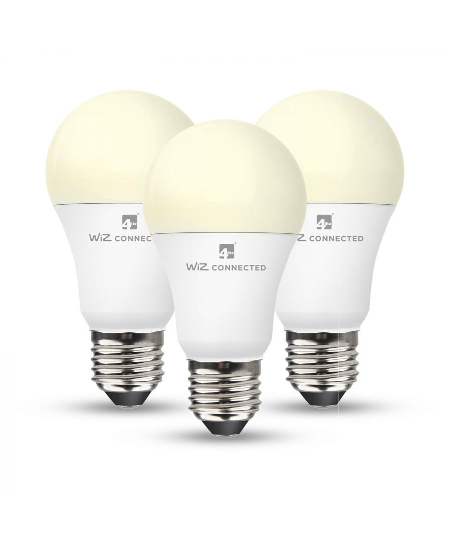 Image for WiZ LED Smart Bulb Wifi A60 E27 x 3 Pack