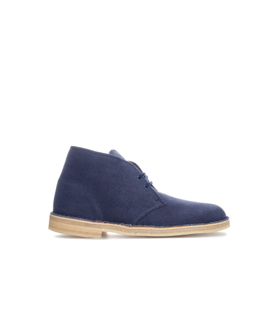 Image for Men's Clarks Originals Fabric Desert Boot in Navy