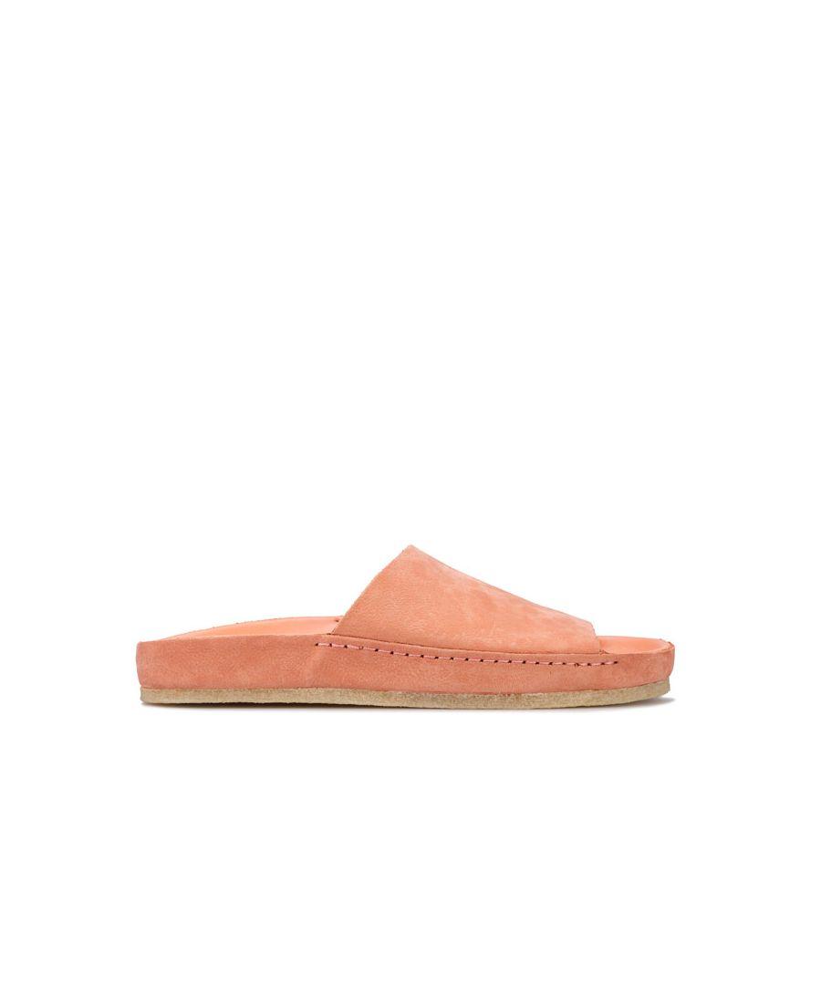 Image for Women's Clarks Originals Ranger Free Slide Sandals in Coral