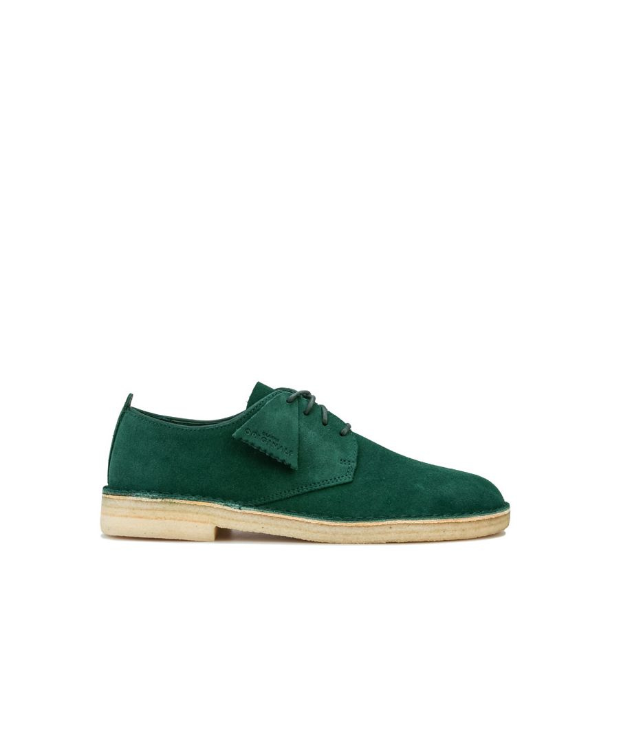 Image for Men's Clarks Originals Desert London Suede Shoe in Green