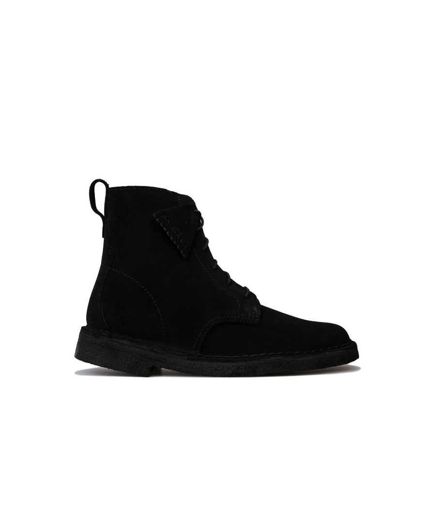 Image for Women's Clarks Originals Desert Mali Suede Boots in Black