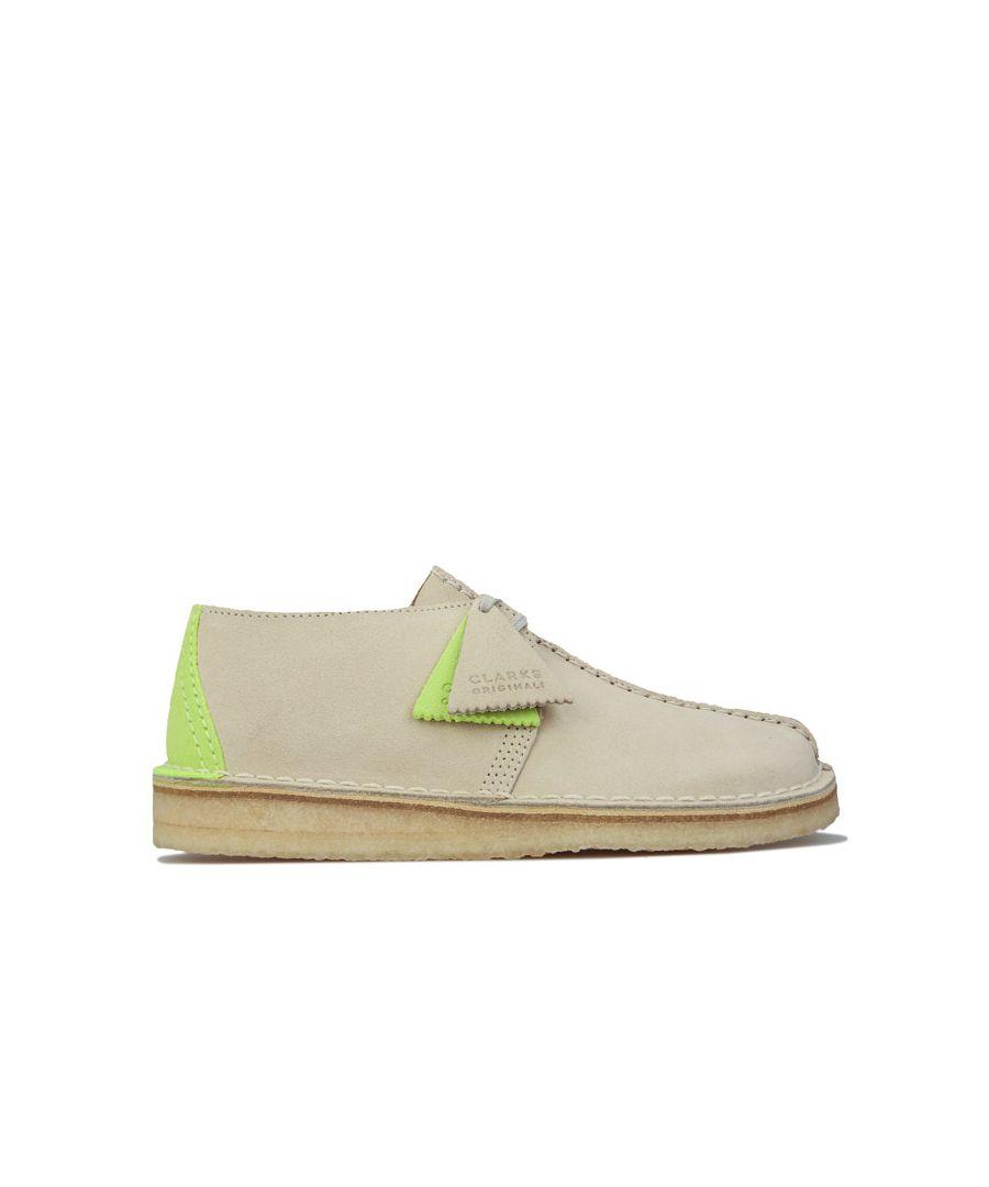 Image for Men's Clarks Originals Desert Trek Shoes in Off White
