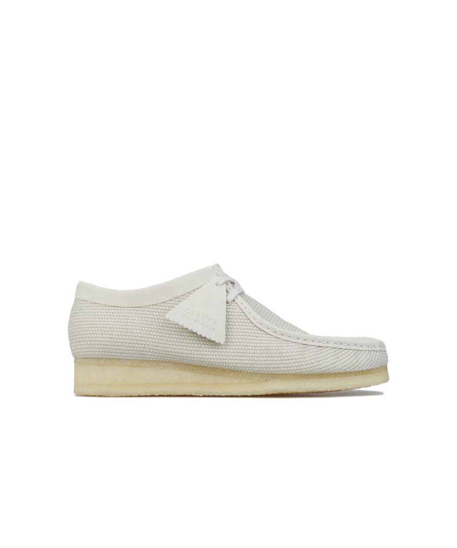 Image for Men's Clarks Originals Wallabee Shoes in Off White