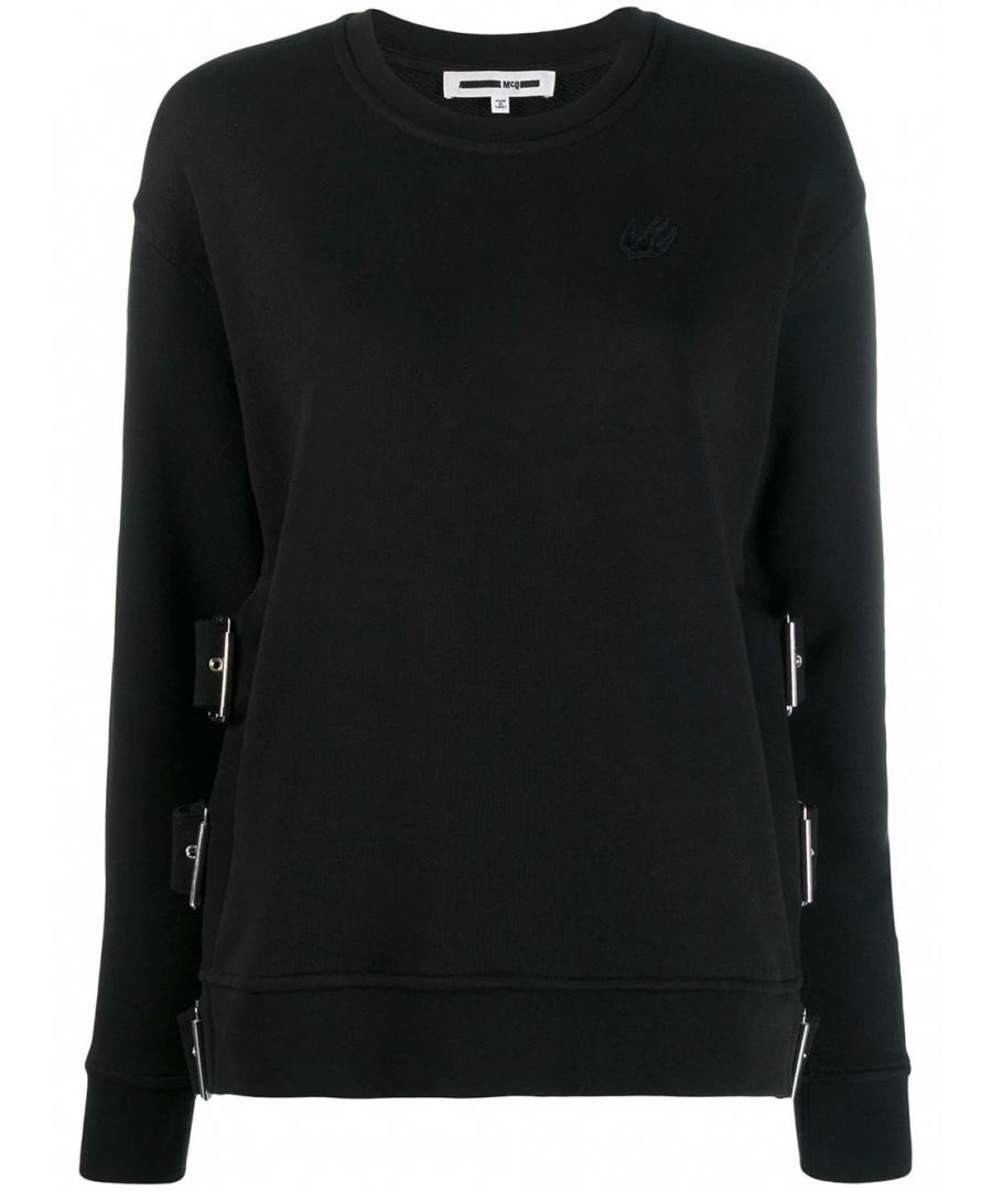 Image for MCQ BY ALEXANDER MCQUEEN WOMEN'S 566973RNH301000 BLACK COTTON SWEATSHIRT