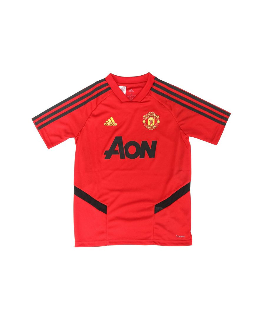 Image for Boys' adidas Junior Manchester United Training Jersey in Red