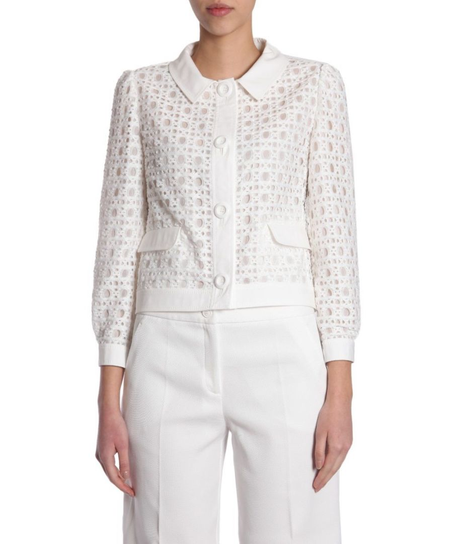 Image for BOUTIQUE MOSCHINO WOMEN'S A050508380002 WHITE POLYAMIDE JACKET