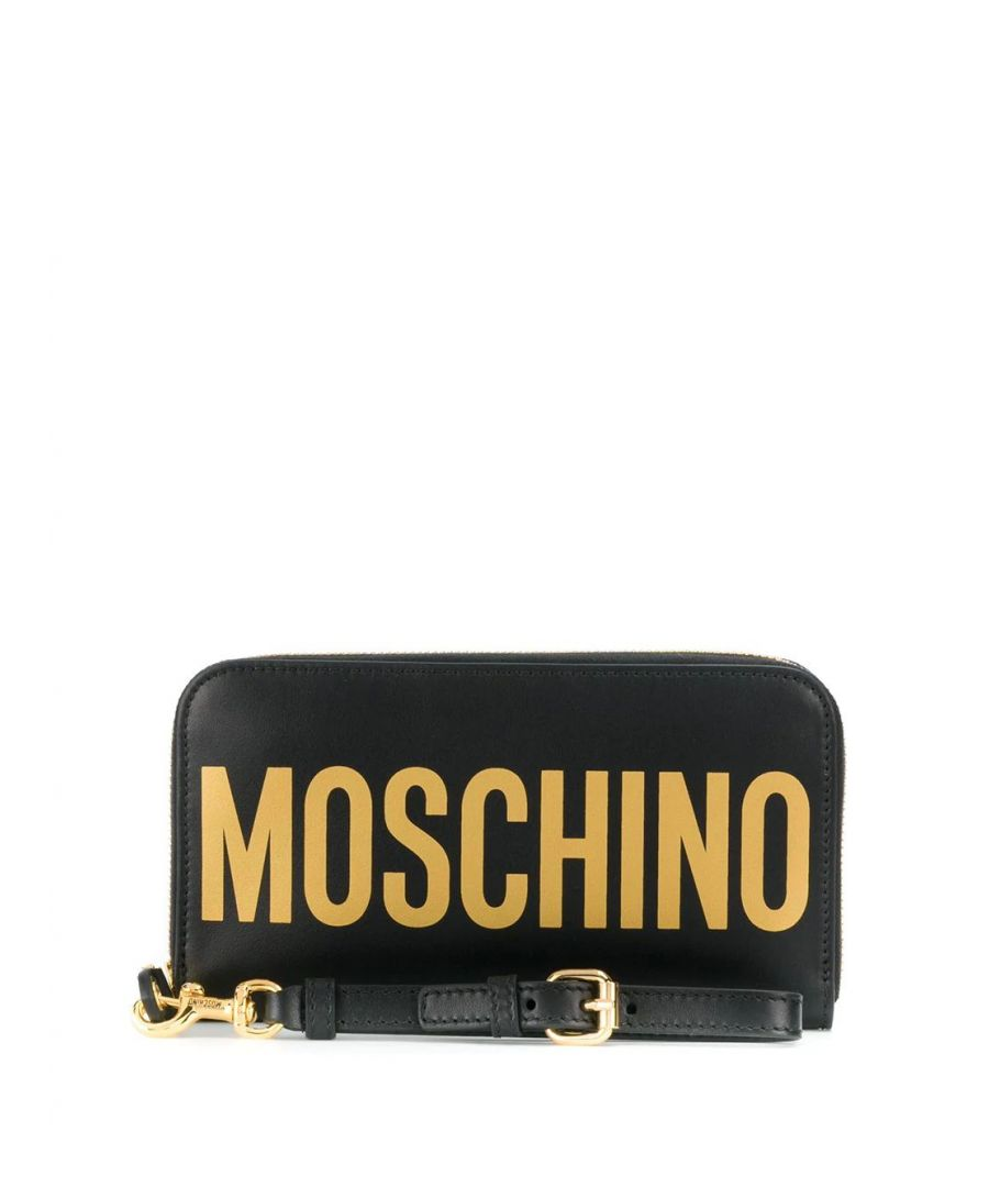 Image for MOSCHINO WOMEN'S A810780012555 BLACK LEATHER WALLET
