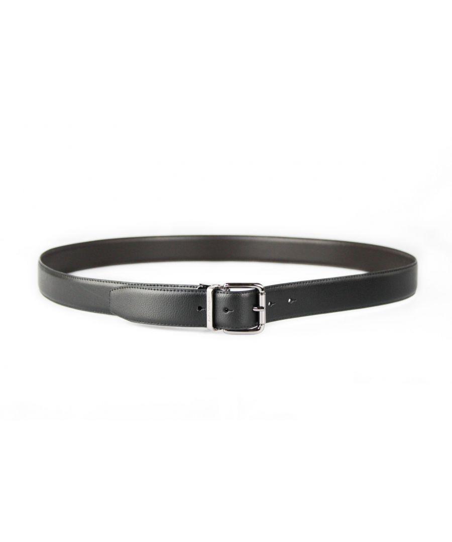 Image for Michael Kors 4 in 1 Signature MK Logo Plate Buckle Black/Brown Belt Box Gift Set