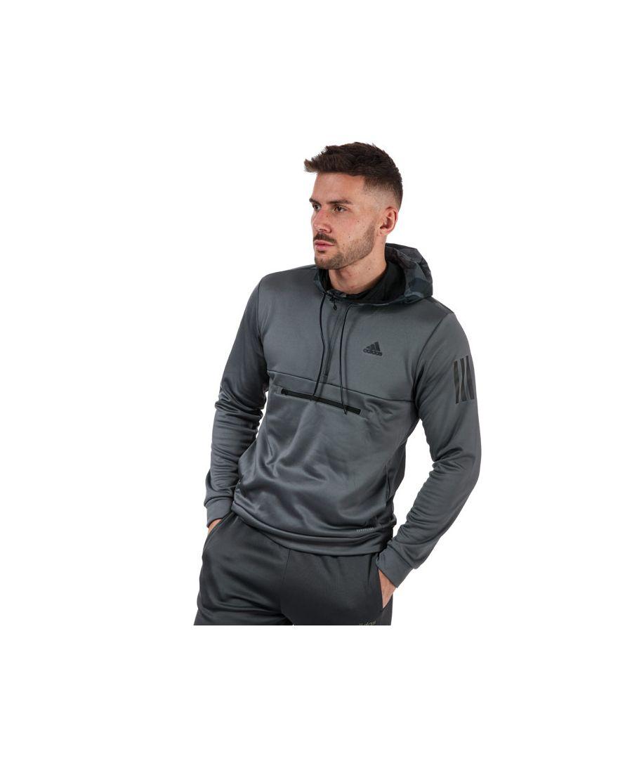 Image for Men's adidas Half Zip Hoodie in Grey
