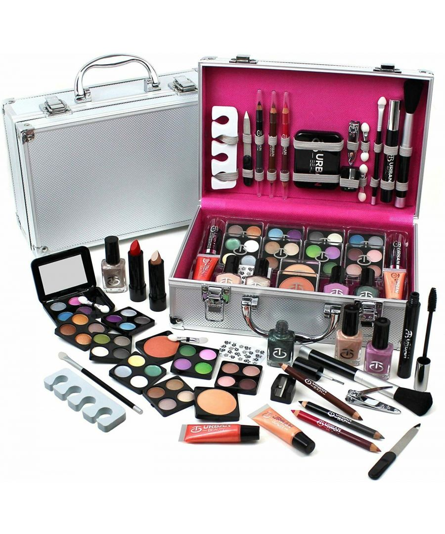 Image for Love Urban Beauty Make up Vanity Case 60 Piece Silver
