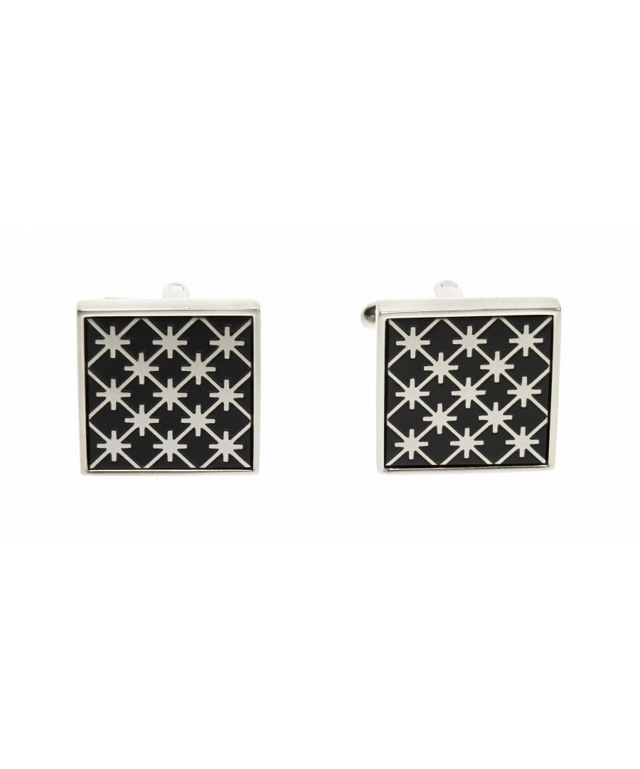 Image for Onyx Star Mesh Cufflinks