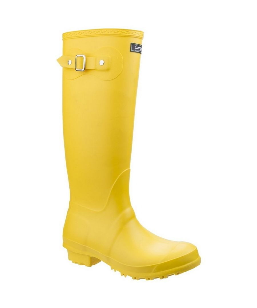 Image for Cotswold Sandringham Buckle-Up Womens Wellington Boots (Yellow)