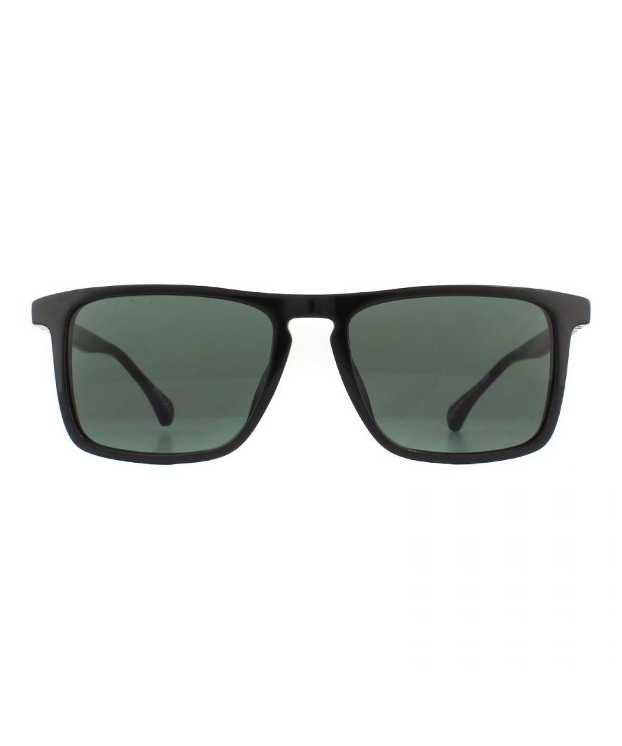Image for Hugo Boss Sunglasses 1082/S 807 QT Shiny Black Grey Green