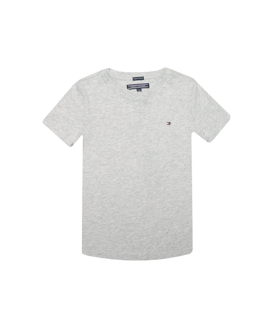 Image for Boy's Tommy Hilfiger infant Essential Organic Cotton T-Shirt in Grey Heather