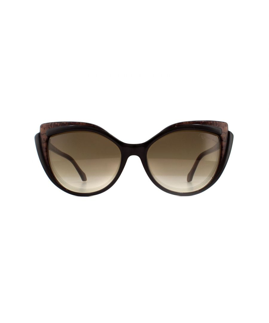 Image for Roberto Cavalli Sunglasses Cinignano RC1052 50G Dark Brown Brown Mirror