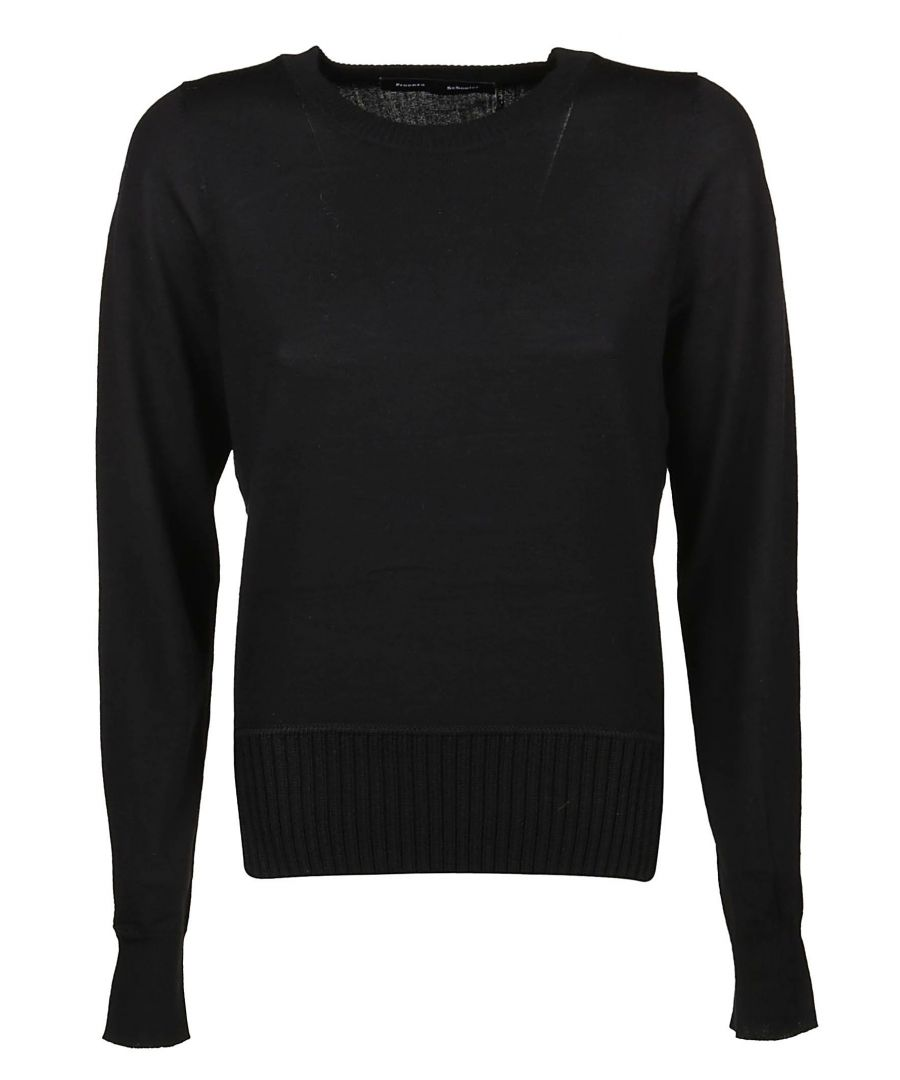 Image for PROENZA SCHOULER WOMEN'S R193723400200 BLACK WOOL SWEATER