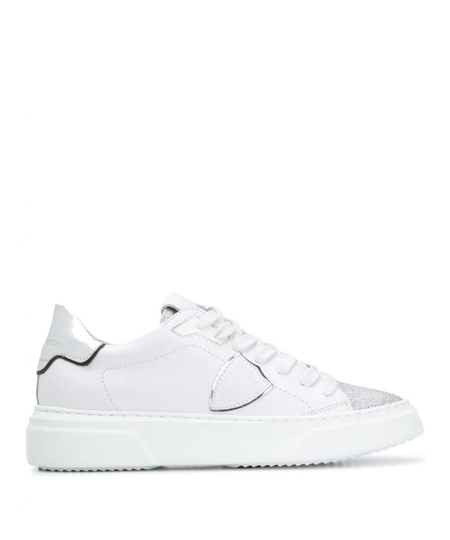 Image for PHILIPPE MODEL WOMEN'S BYLDVG01 WHITE LEATHER SNEAKERS