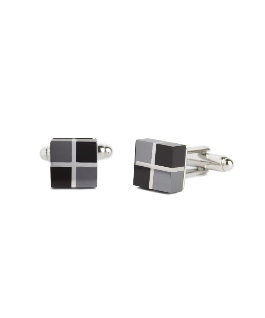 Image for Heamatite/Onyx Rubik Cufflinks