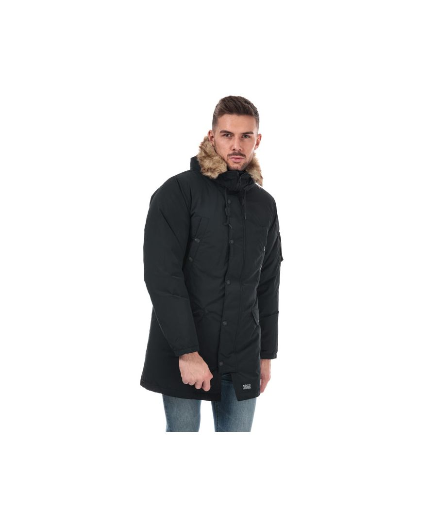 Image for Men's Levis Down Davidson Parka Jacket in Black