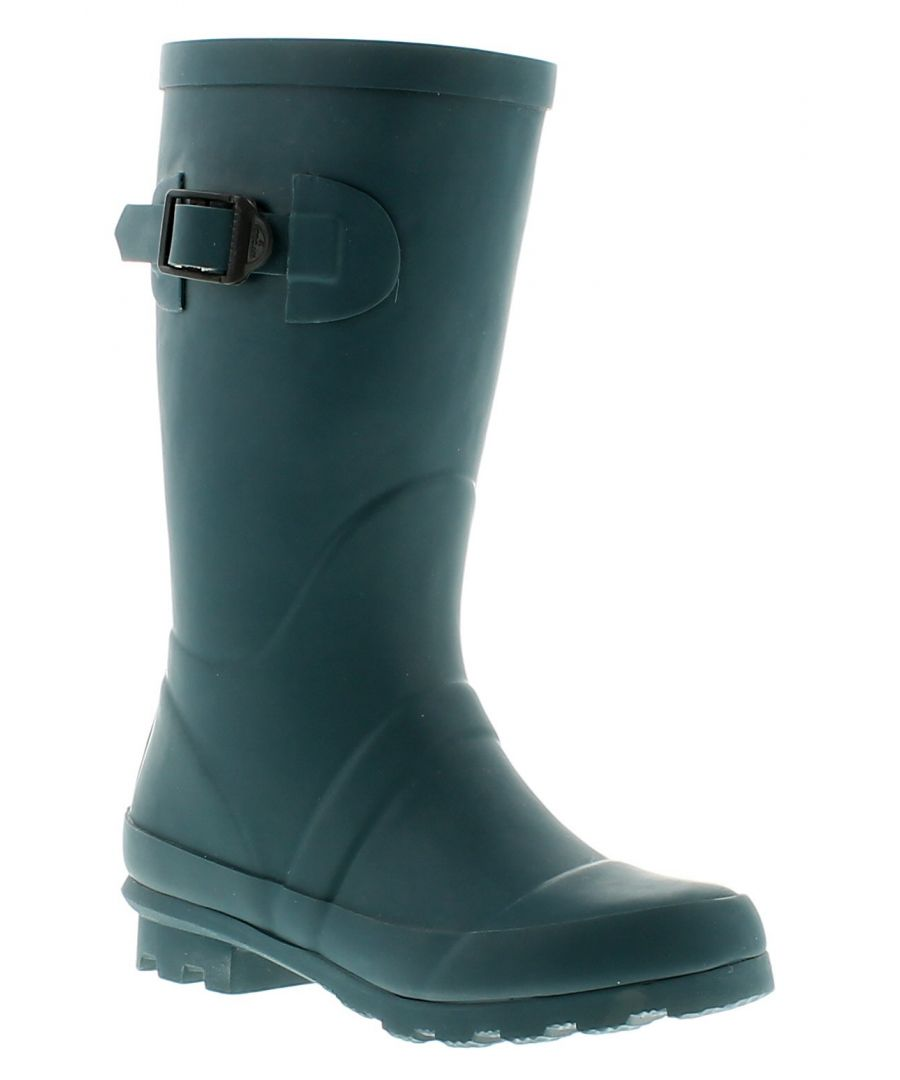 Image for New Childrens/Unisex Navy Rubber Long Leg Wellington Boots