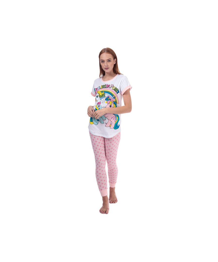 Image for Women's Hasbro My Little Pony Pyjamas in White pink