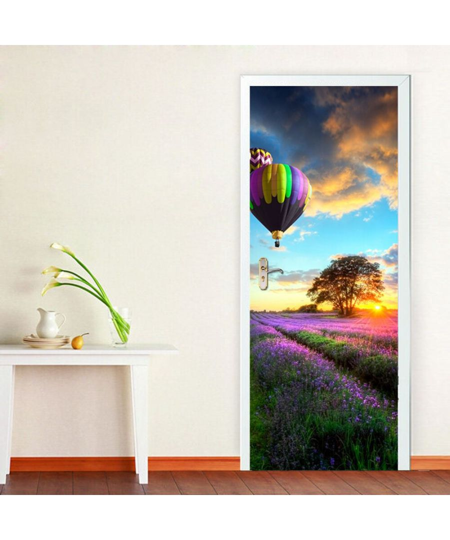 Image for Provence Lavender Self-Adhesive Stickers Door Mural 88cm x 200cm European Size